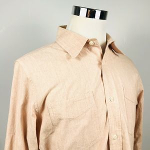 Jack Spade Large Casual Button Front Shirt Pink